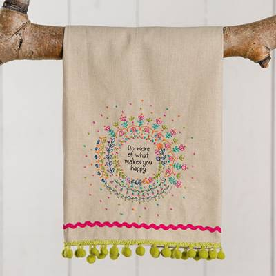 Do More of What Makes You Happy Linen Hand Towel