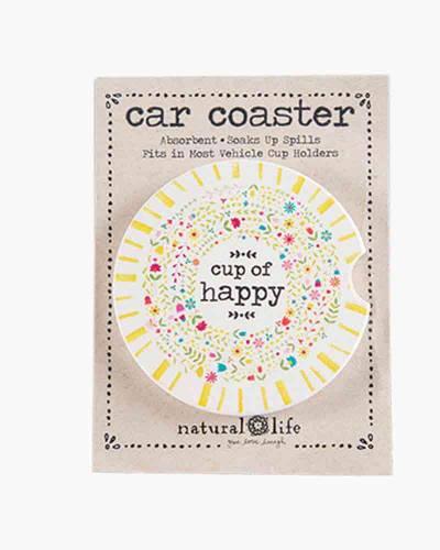 Cup of Happy Car Coaster