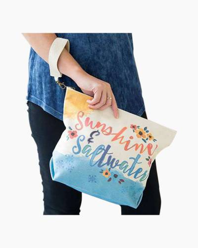 Sunshine and Saltwater Canvas Carryall Bag