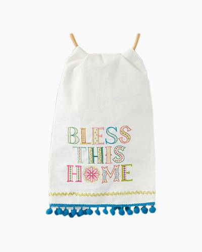 Bless This Home Linen Hand Towel
