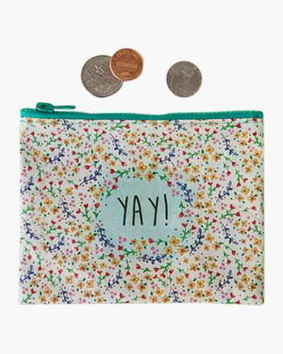 Yay! Recycled Zip Coin Pouch