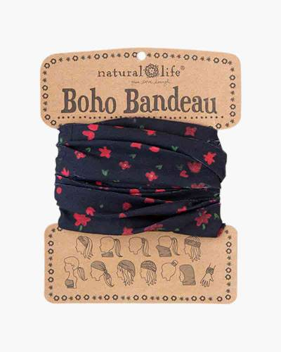 Red and Black Floral Boho Bandeau