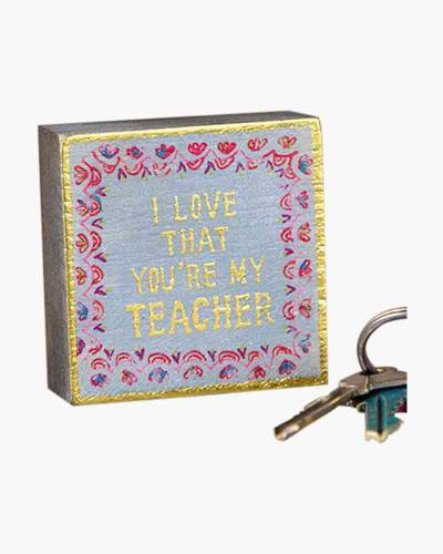 I Love that You're My Teacher Tiny Wooden Block Keepsake