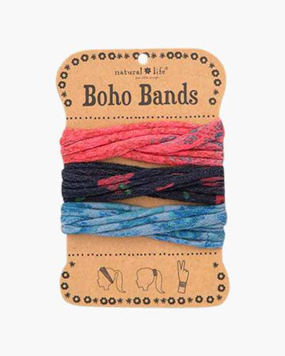 Red, Blue, and Black Boho Bands
