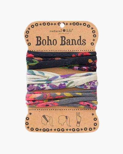 Black, Cream, and Charcoal Floral Boho Bands