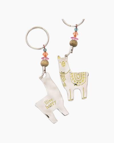 Llive Happy Llama Token Keychain