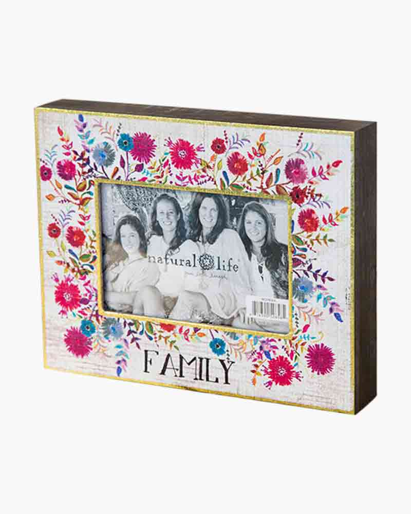 Natural Life Family Floral Picture Frame (4x6) | The Paper Store