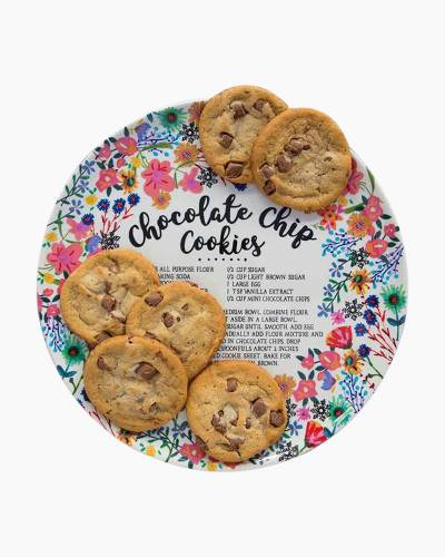 Chocolate Chip Cookies Recipe Melamine Plate