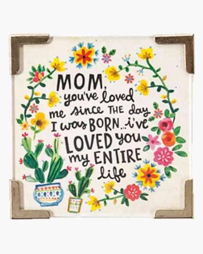 Mom, I Love You Corner Magnet