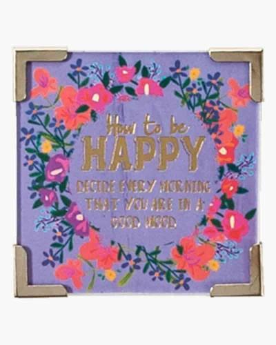 How To Be Happy Corner Magnet