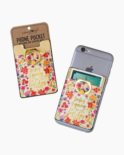 Best Day Ever Phone Pocket and Ring