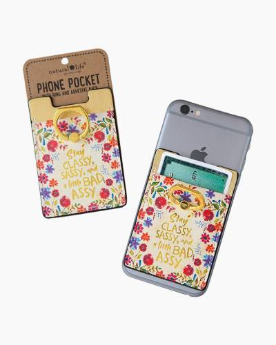 Classy Sassy Phone Pocket and Ring