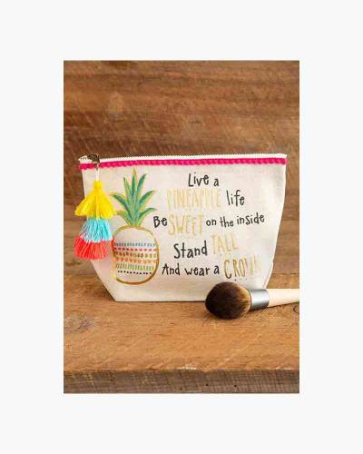Pineapple Life Canvas Pouch