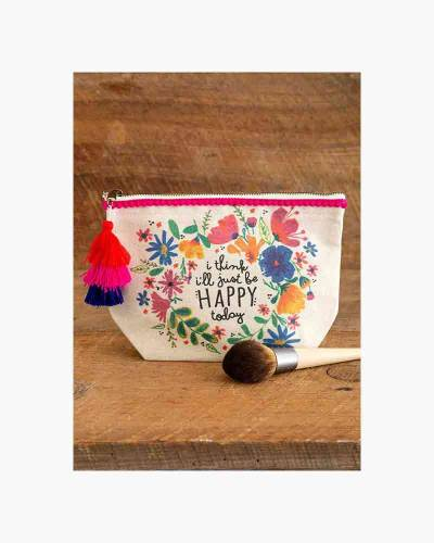 Just Be Happy Today Canvas Pouch
