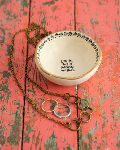 Love You to the Moon Giving Trinket Bowl
