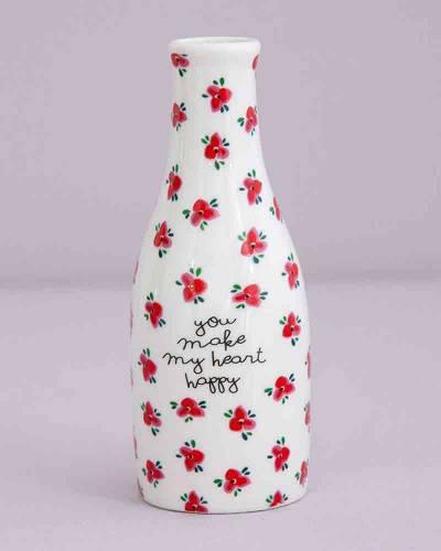 You Make My Heart Happy Bud Vase