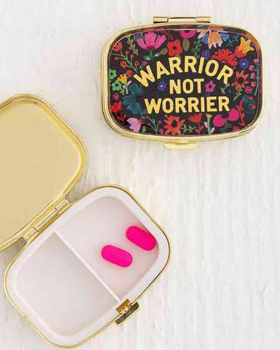 Warrior Not Worrier Pill Box