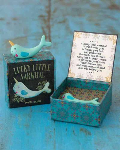 Lucky Little Narwhal Token Charm