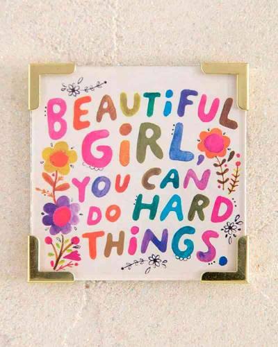 Beautiful Girl Corner Magnet