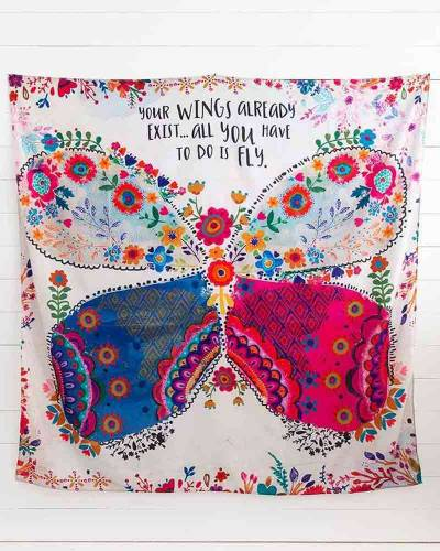 Your Wings Exist Wall Tapestry