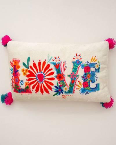 Love Cozy Throw Pillow