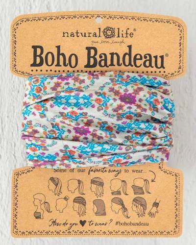 Grey Flower Boho Bandeau