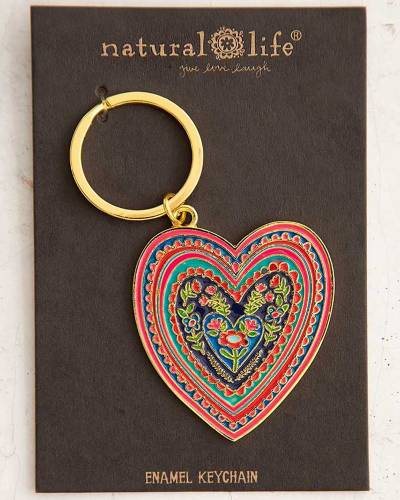 Heart Enamel Keychain