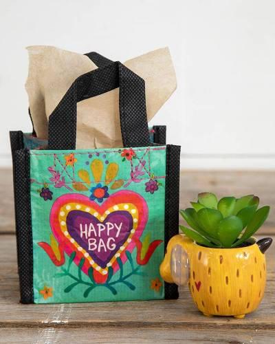 Turquoise Heart XS Happy Bag