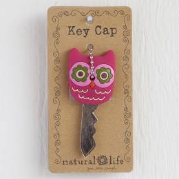 Natural Life Hot Pink Owl Key Cap