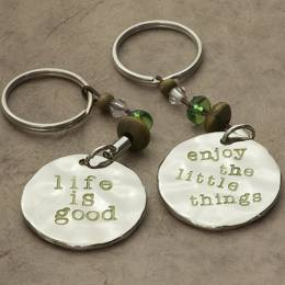 Natural Life Enjoy the Little Things Token Keychain