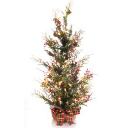 Simply Noelle 30 Inch Lite Up Woodland Tree