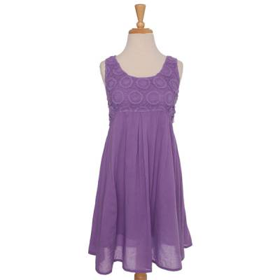 Purple Crochet Dress