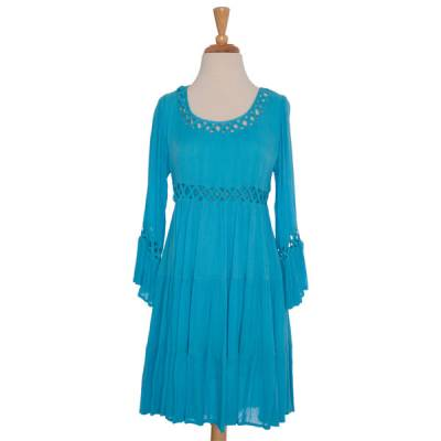 Blue Latticework Dress