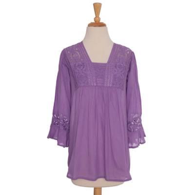 Purple Crochet Blouse