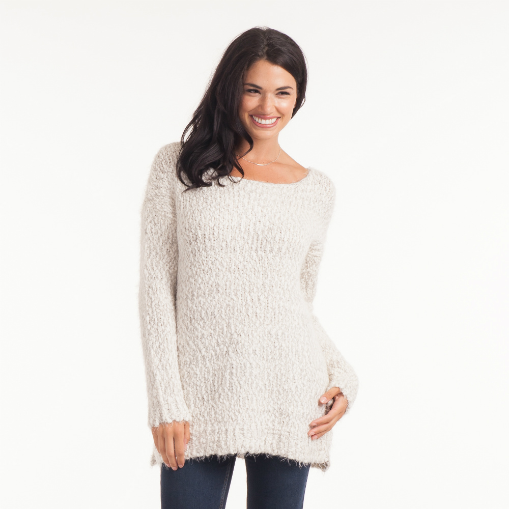 Noelle Eyelash Chunky Knit Sweater