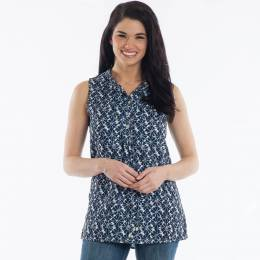 Noelle Sleeveless Tie-Neck Top
