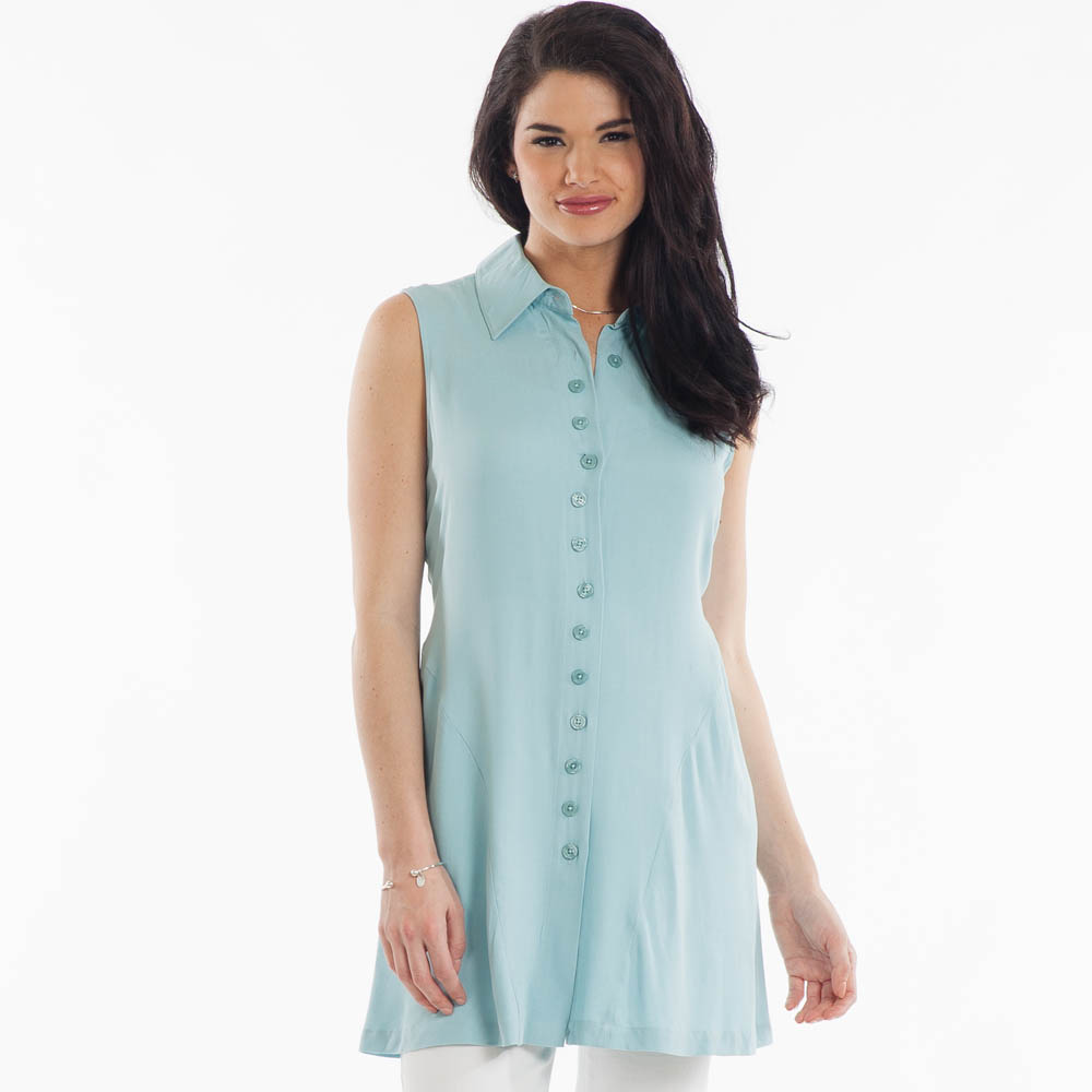 Noelle Sleeveless Button-Front Tunic