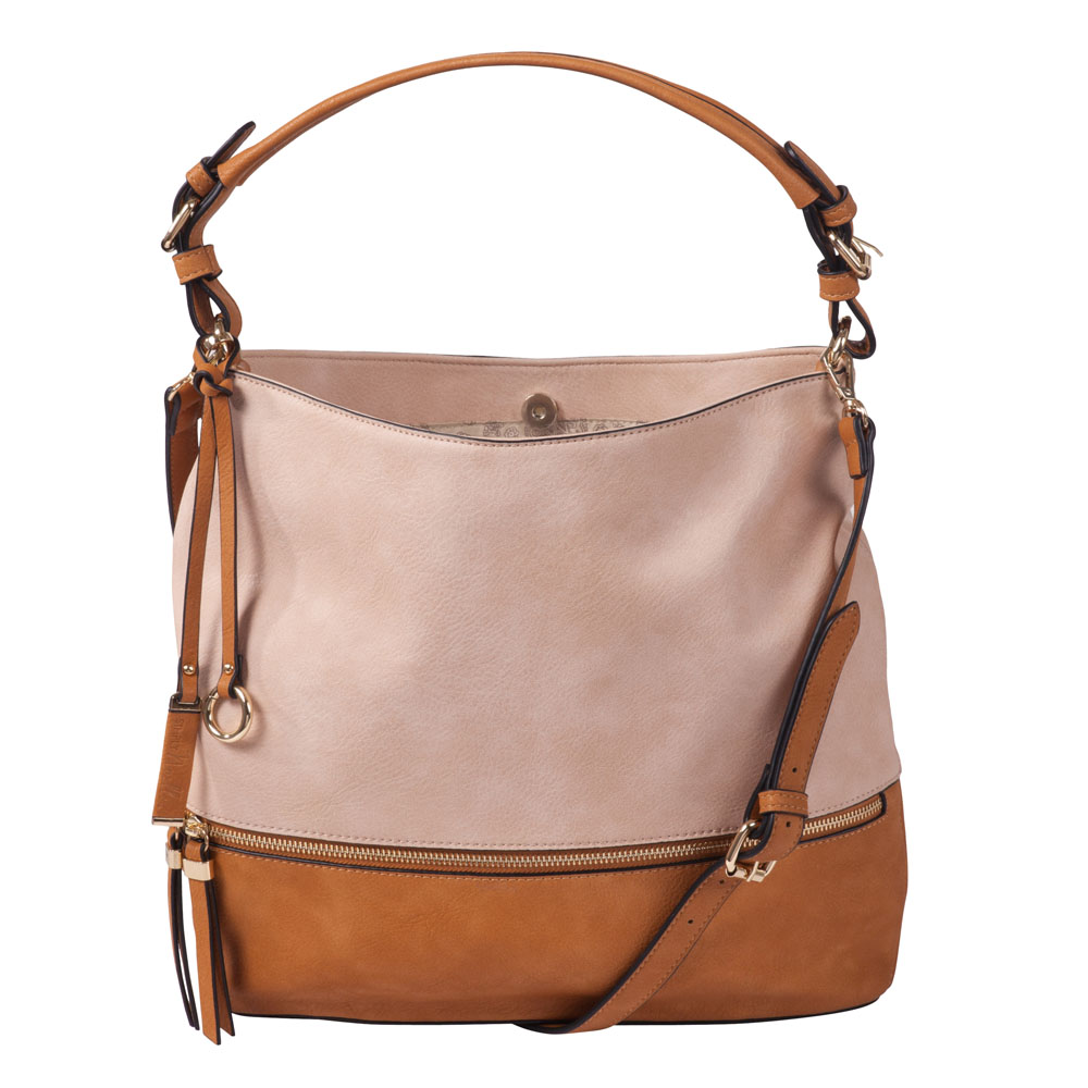 Noelle Buckle Strap Hobo Bag