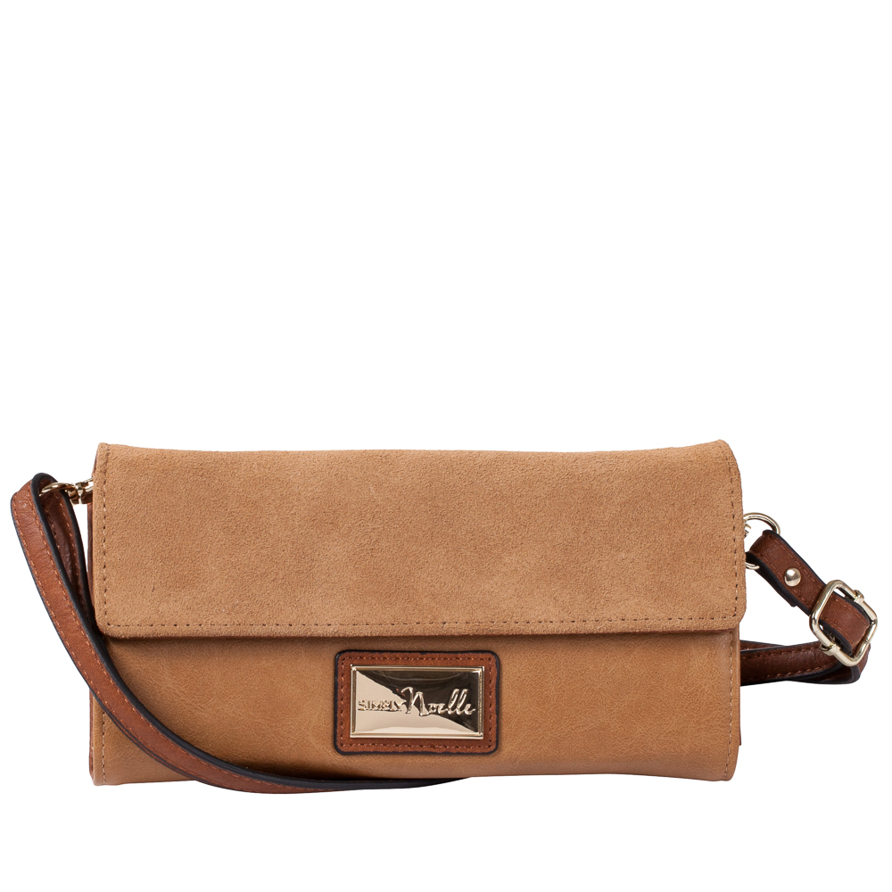 Noelle Suede Panel Convertible Crossbody Bag