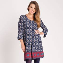 Noelle Tile Print Dress