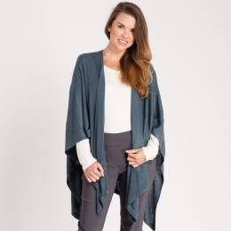 Noelle Soft Cardigan Wrap in Aquamarine