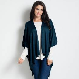 Noelle Soft Cardigan Wrap in Denim Blue