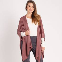 Noelle Soft Cardigan Wrap in Mauve