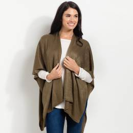 Noelle Soft Cardigan Wrap in Olive