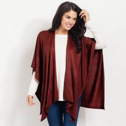 Noelle Soft Cardigan Wrap in Sangria