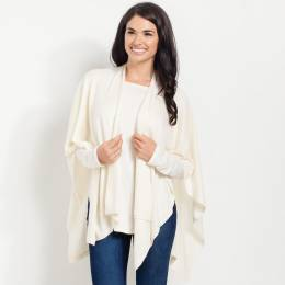 Noelle Soft Cardigan Wrap in Pearl