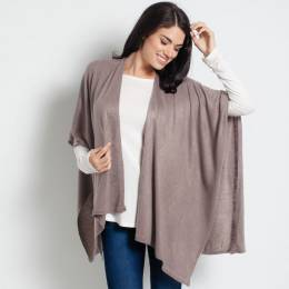 Noelle Soft Cardigan Wrap in Putty