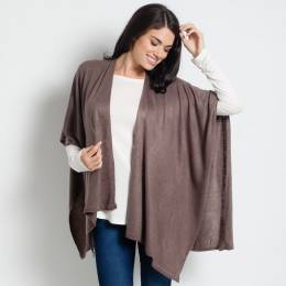 Noelle Soft Cardigan Wrap in Taupe