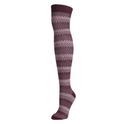 Zig Zag Tall Boot Socks