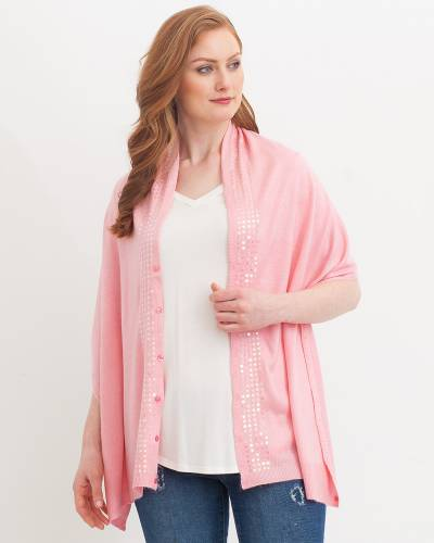 Soft Sequin Wrap in Pink